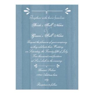 Elegantes blaues Aquarell Ankündigungskarten