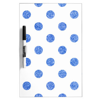 Elegantes blaues Glitter-Polka-Punkt-Muster Memoboard