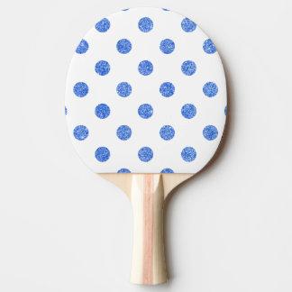 Elegantes blaues Glitter-Polka-Punkt-Muster Tischtennis Schläger