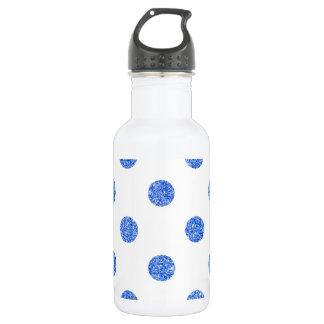 Elegantes blaues Glitter-Polka-Punkt-Muster Trinkflasche