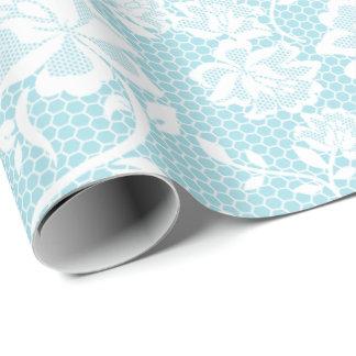 Elegantes blaues und weißes geschenkpapierrolle