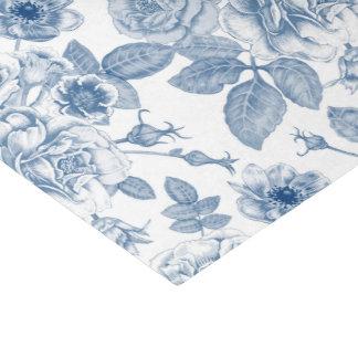 Elegantes blaues weißes Vintages Partymit Seidenpapier