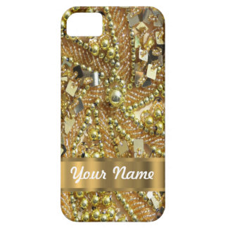 Elegantes bling Gold Barely There iPhone 5 Hülle