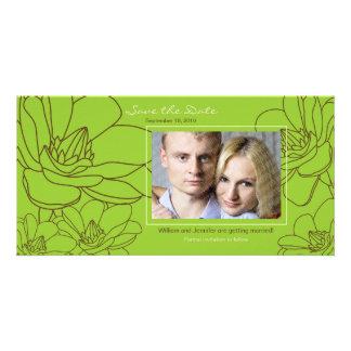 Elegantes Blumen Save the Date Wedding Foto-Karte Personalisierte Photo Karte