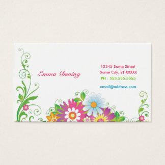 Elegantes Blumen Visitenkarte