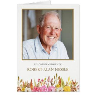 Elegantes BlumenBeileids-Begräbnis danken Ihnen Karte