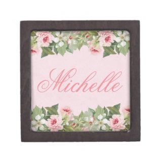 Elegantes Blumennamensandenken oder Geschenkboxen Schachtel