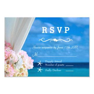 Elegantes Blumenozean-Strand-Sommer UAWG 8,9 X 12,7 Cm Einladungskarte