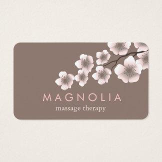 Elegantes Blüten-Rosa-schicke Zen-Visitenkarte Visitenkarte