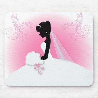 Elegantes Braut-Silhouette Brautparty Mousepads