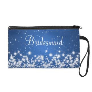 Elegantes Brautjungfern-Winter-Schein-Blau