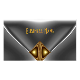 Elegantes Bronzegoldjuwel-Chrom-Silber Visitenkarten