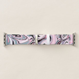 Elegantes buntes rosa lila schwarzes apple watch armband