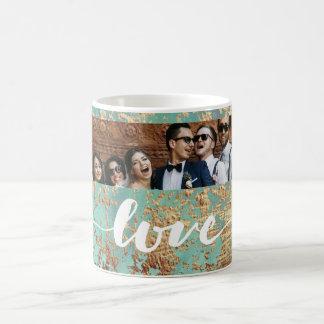 Elegantes Chic-Imitat-Glitzer-GoldFoto-Geschenk Kaffeetasse