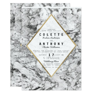 Elegantes Chic-Imitat-GoldSchwarz-weiße Karte
