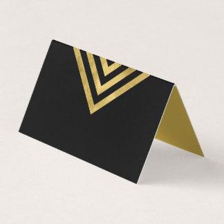 Elegantes Chic-Schwarzes und Imitat-Gold Platzkarte