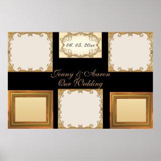 Elegantes Chic stilvolles goldenes Foto gestaltet Plakatdruck