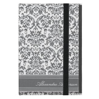 Elegantes Damast iPad Minifall (Platin) iPad Mini Schutzhülle