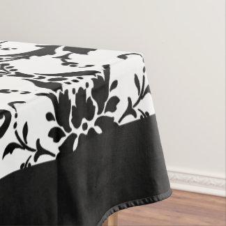 Elegantes Damast-Muster Schwarzweiss Tischdecke