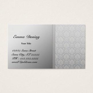 Elegantes Damast-Silber Visitenkarte