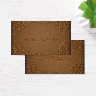 Elegantes Designer-Leder-rustikales Western-Land Visitenkarte
