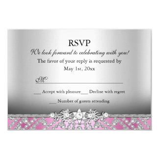 Elegantes Diamant-Rosa UAWG 8,9 X 12,7 Cm Einladungskarte