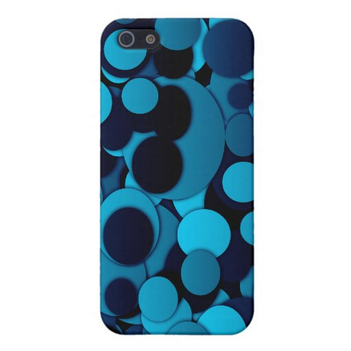 Elegantes dotty trendy cooles des blauen Schwarzen iPhone 5 Etuis