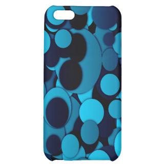 Elegantes dotty trendy cooles des blauen Schwarzen iPhone 5C Hüllen