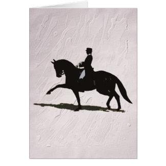 Elegantes Dressage-Pferd u. Reiter Karte