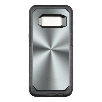 Elegantes einfaches glänzendes silbernes Grau OtterBox Commuter Samsung Galaxy S8 Hülle