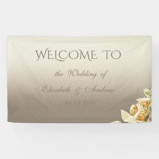 Elegantes einfaches, Rosen, die Fahne Wedding sind Banner