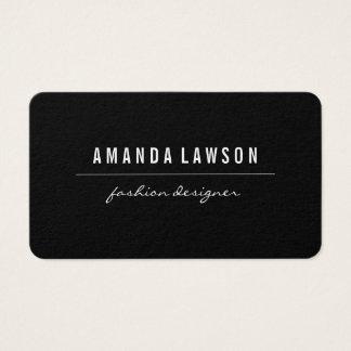 Elegantes einfaches Schwarzes Visitenkarte