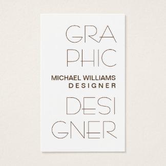 Elegantes Einfaches Weiß Professionelle grafische Visitenkarte