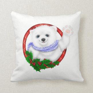Elegantes Eisbär-Weihnachten Kissen