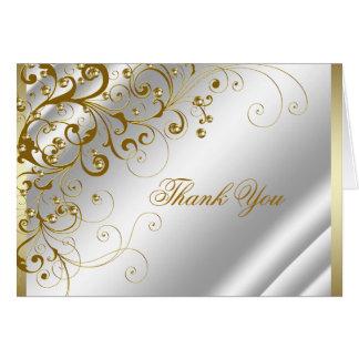 Elegantes Elfenbein und Gold danken Ihnen Karte