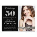 Elegantes Foto-50. Geburtstags-Feier Individuelle Ankündigskarten
