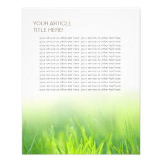 Elegantes frisches grünes Gras Flyer