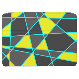 elegantes geometrisches helles Neongelbes und iPad Air Hülle