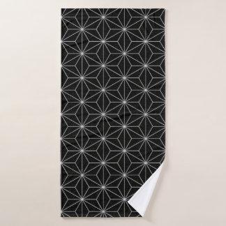 Elegantes geometrisches Muster - Silber u. Badehandtuch