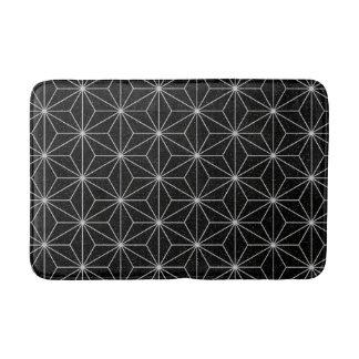 Elegantes geometrisches Muster - Silber u. Badematte