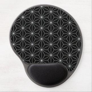 Elegantes geometrisches Muster - Silber u. Gel Mousepad