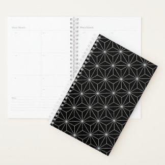 Elegantes geometrisches Muster - Silber u. Planer