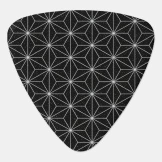 Elegantes geometrisches Muster - Silber u. Plektron