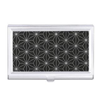 Elegantes geometrisches Muster - Silber u. Visitenkarten Dose