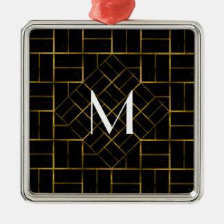Elegantes geometrisches silbernes ornament