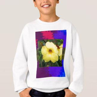 Elegantes Geschenke ORCHIDEE Blumen-Billiggelb Sweatshirt