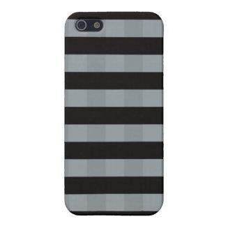 Elegantes gestreiftes quadratisches Schwarzes des  Etui Fürs iPhone 5