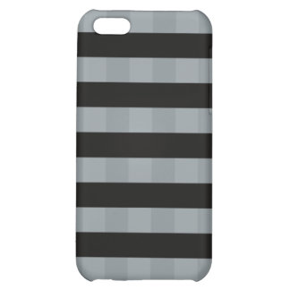 Elegantes gestreiftes quadratisches Schwarzes des iPhone 5C Hülle