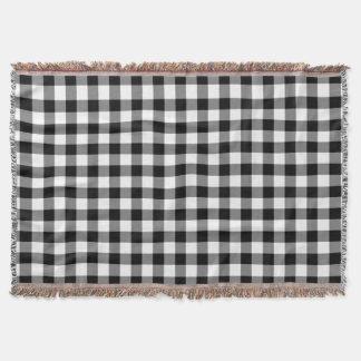 Elegantes Gingham-Karo-Schwarzweiss-Muster Decke