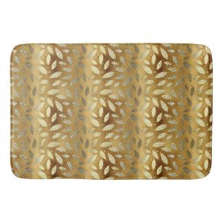 Elegantes glänzendes GoldBlätter Badematte